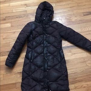 North Face Purple Puffer long jacket